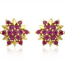 Buy Mahi Red Burst Earrings stud online