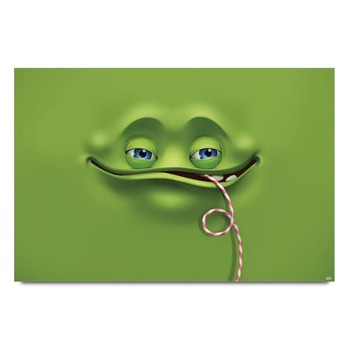 Smiley Green Poster