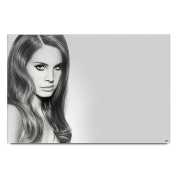 Lana Del Rey Charcoal Painting Poster