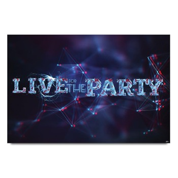 Live The Party Football Club Poster