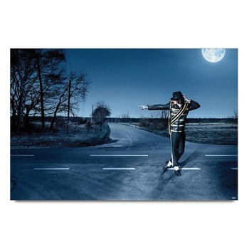 Michael Jackson Moonwalk Poster