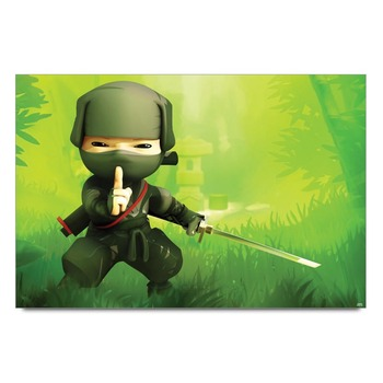 Ninja Samurai Cartoon Poster