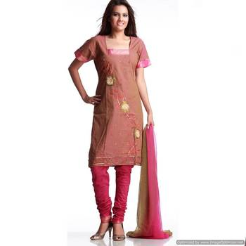 Sobre Handloom Cotton Suit With Tissue Embroidery