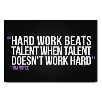 Hard Work Quote Poster