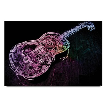 Guitar Graphic Art Poster