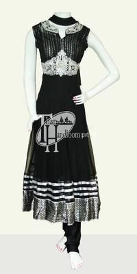 Beautiful black designer stone work anarkali suit