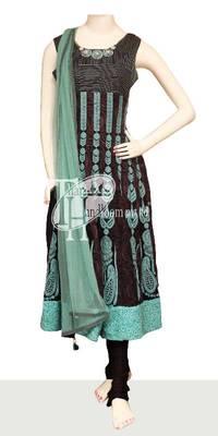 Indian design georgette embroidery work replica