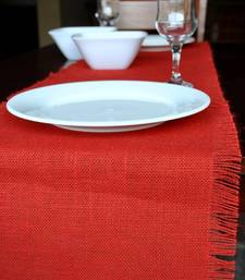 Buy Eco Home Jute Table Runner - Red table-cloth online