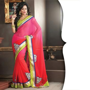 MultiColor Designer Saree with Prints