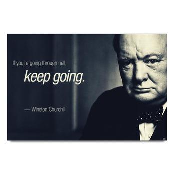 Winston Churchill Quote Poster