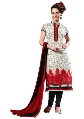 Multicolor bhagalpuri silk printed unstitched salwar with dupatta