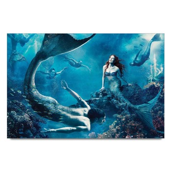 Mermaids In The Ocean Poster