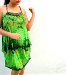 Buy Summer green beach dress dress online