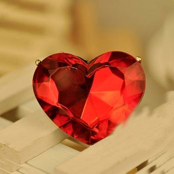 Red Heart Cocktail Ring