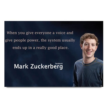 Mark Zuckerberg Quote Poster