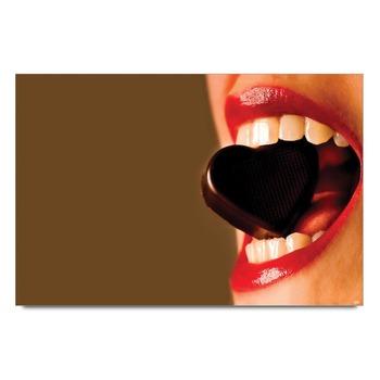 Sensuos Model Eating Chocolate Poster