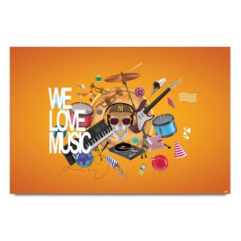 We Love Music Poster