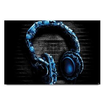 Headphones Glitter Poster