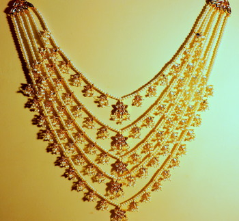 Traditional Five Line Kundan Satlada Haare