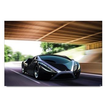 Black Super Sports Car  Poster