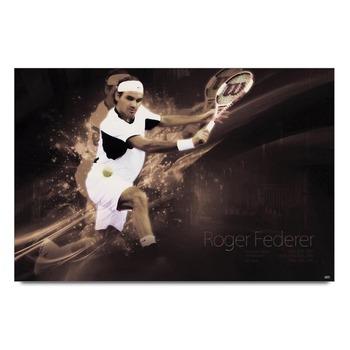 Roger Federer In Action   Poster