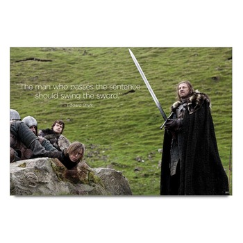 Eddark Stark Game Of Thrones    Poster