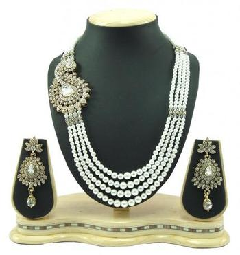 Dealtz Fashion 4 line pearl necklace set