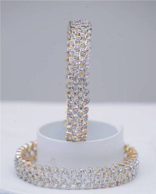 American Diamond Cutting Bangles