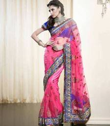 Buy Net Saree With Heavy Thread Zari  net-saree online