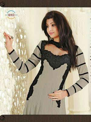 Anarkali Gray Bitto Bollywood Collection By Fabfiza