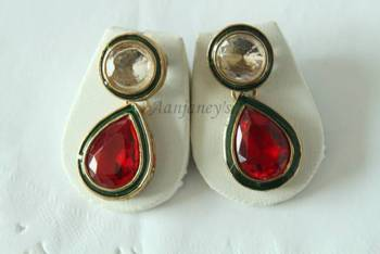 Designer Studs Earrings Jhumkas Indian Traditional Trendy Ethnic  Stone Handmade