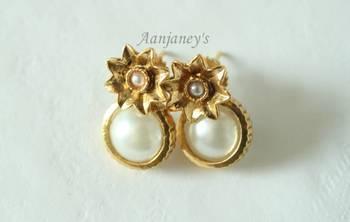Designer Studs Earrings Jhumkas Indian Traditional Trendy Ethnic Stone Handmade
