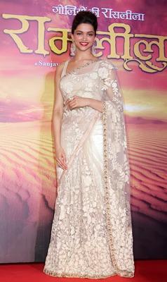 Deepika padukone ram leela bollywood replica saree