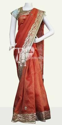 Beautiful supernet cotton desigenr border saree