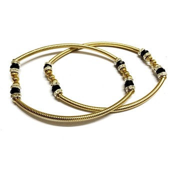 Craftstages Strechanble Brass Colored Anklet2