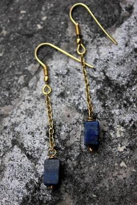 Lapis Blocks Earrings