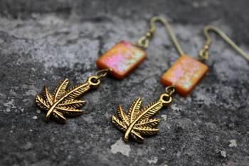 Leaves and Blocks Earrings