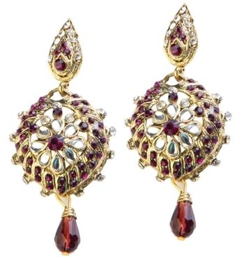 Dealtz Fashion Purple Shine Floral Earrings