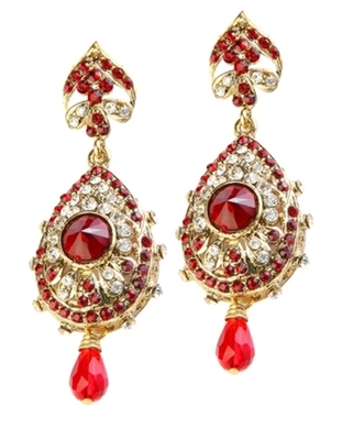 Dealtz Fashion Red Teardrop Design Earrings