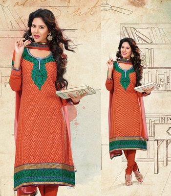 Hypnotex Brown Pure Georgette Dress Materials