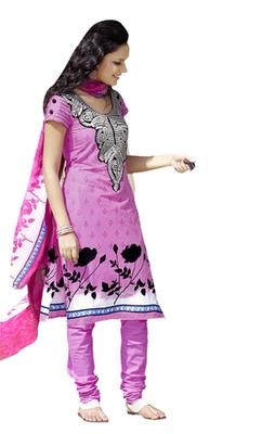 Hypnotex Light Pink Cotton Dress Materials