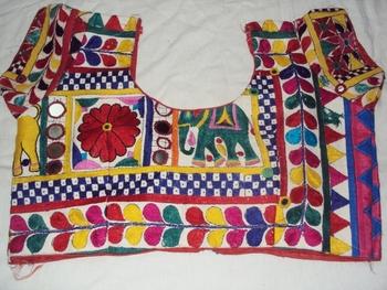 Pure Kachchi Hand work Blouse - Real mirror work- kutch work blouse