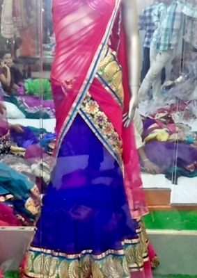 Full Gherdar - Umbrella cut Lehenga choli