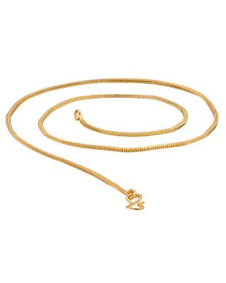 Golden Textured Chain