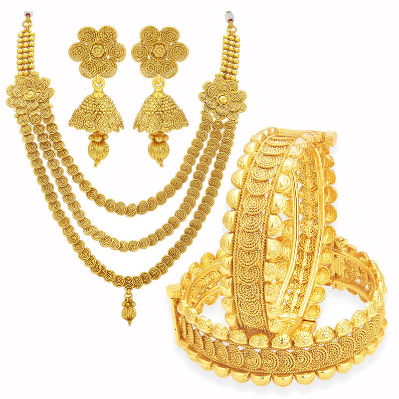 buy astonishing jalebi gold plated set of 1 necklace set 89478