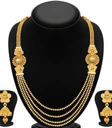 Buy Stylish Jalebi 4 String Gold Plated Necklace Set For Women hot-deal online