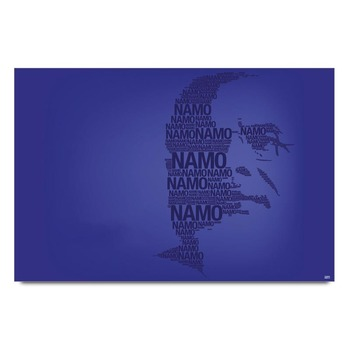 Namo Face In Words Poster