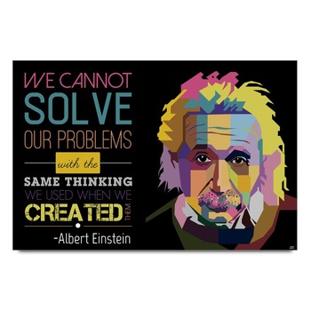 Albert Einstein Mistake Quote  Poster