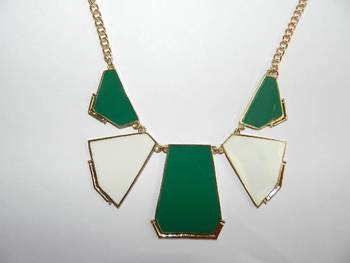 Geometric Blocks Neckpiece