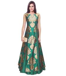 Buy gown by kmozi (Rama Green) party-wear-gown online
